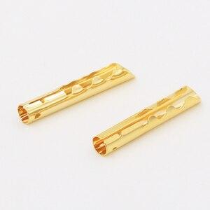 Image 3 - 12 قطعة VB432G الذهب النحاس الصوت BFA Z نوع 4 مللي متر الموز التوصيل المتكلم كابلات الموصلات