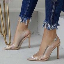 Пикантные прозрачные женские сандалии для ночного клуба