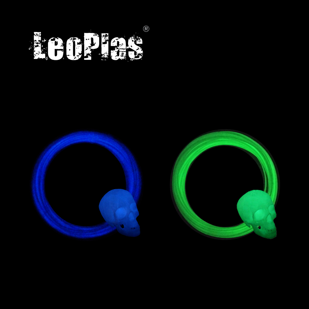 LeoPlas 1.75mm 10 Meters 25g Luminous Noctilucent Glow in Dark ABS Filament Sample For 3D Printer Consumables Printing Supplies