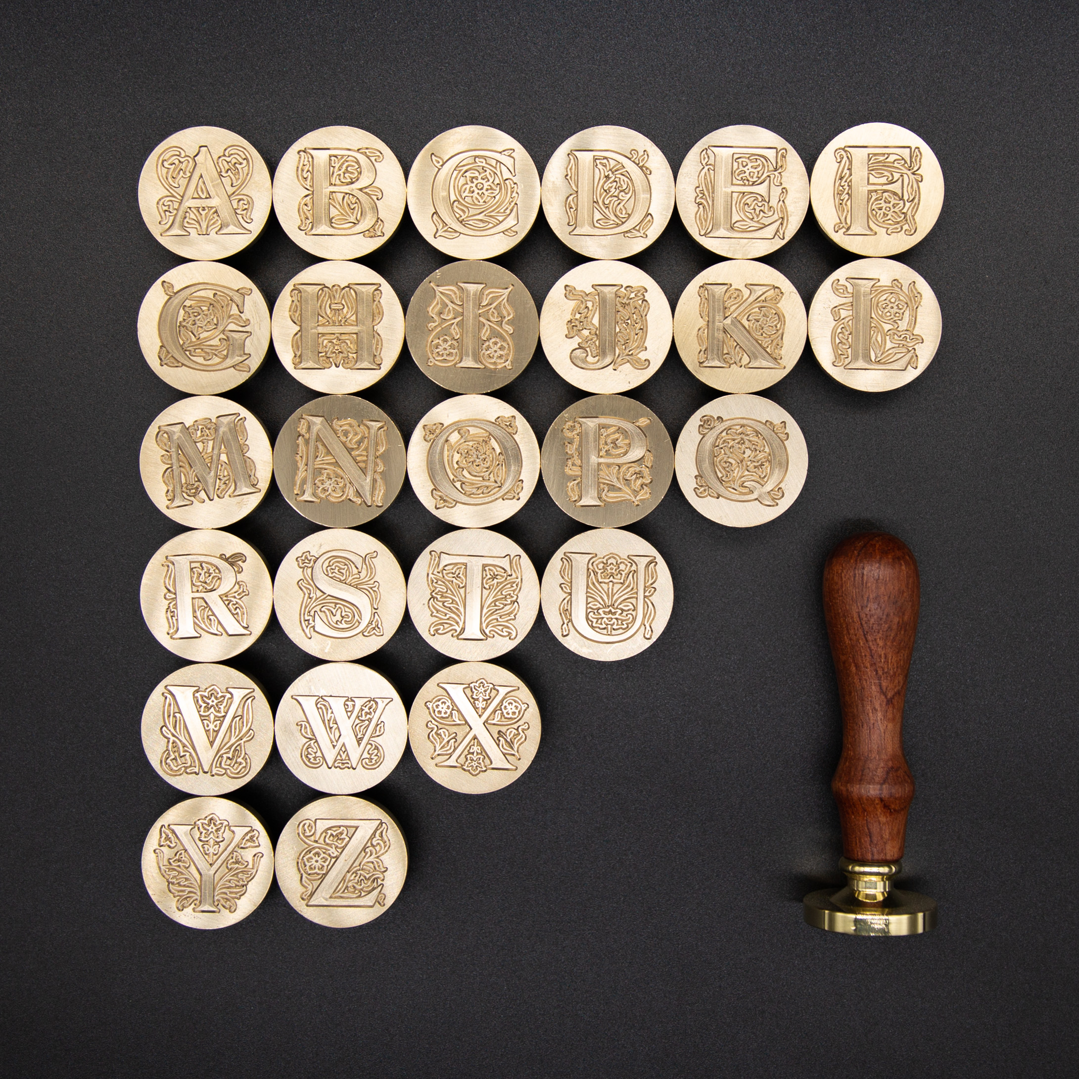 26 Letters Sealing Wax Seal stamp Classic Diy Retro Metal Card making Wax seal Stamp Handcrafts Wedding Invitations Tools
