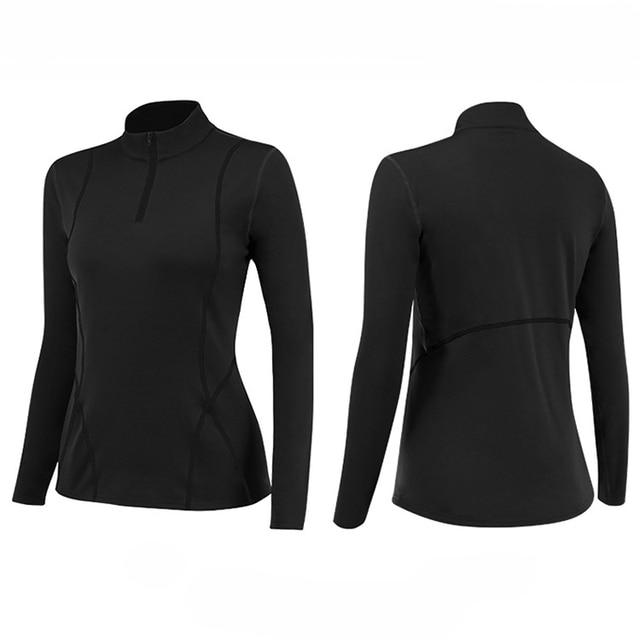 Winter Plus Velvet Thermal Long Sleeved Women Yoga Shirts And Pants Zipper Slim Stretch Gym Fitness Running Ladies Sportswear