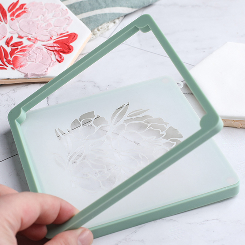 Kitchen Gadgets Baking Accessories Cake Decoration Tools Printing Die Cake Stencil Fixing Frames Fondant Cookies Spray Mold 1Pcs