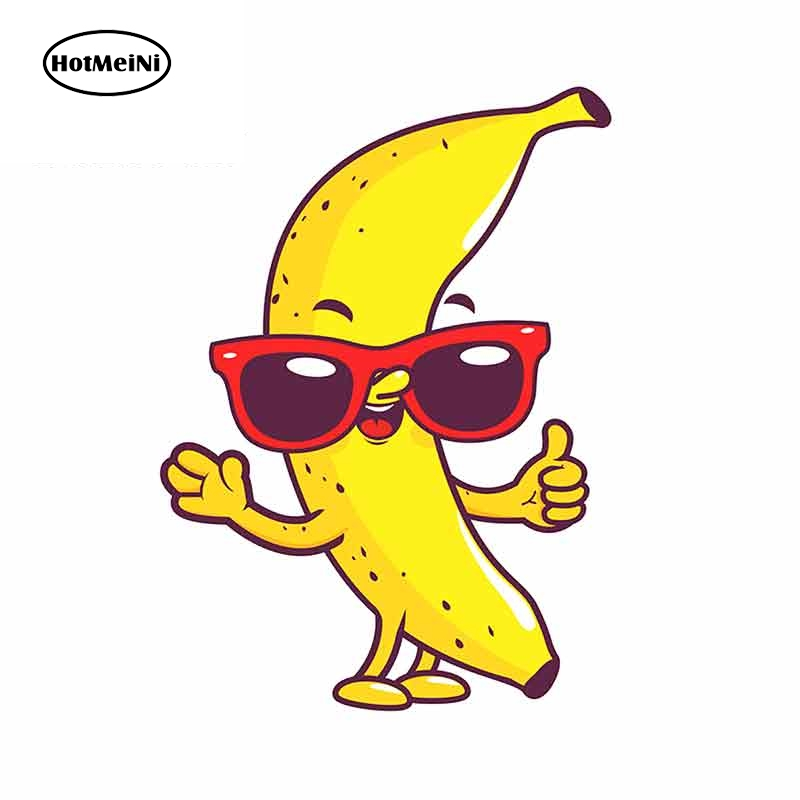 HotMeiNi 13cm x 9.6cm for Cool Banana Fine Decal Waterproof Scratch-proof Stickers 3D Funny Car Sticker Vinyl Bumper Decor