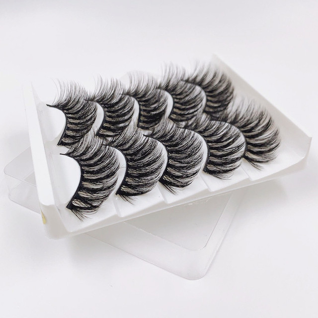 High quality 5 pairs 3d mink eyelashes wholesale fluffy eyelashes mink eyelash natural false eyelashes extensions 5
