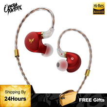 цена на HiFi Bass Earphones A-HE03 Hi-Res HIFI Earphone in-ear types with 2pin replaceable cable design aluminium alloy shell