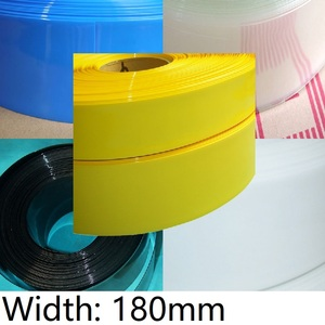Ширина 180 мм ПВХ термоусадочная трубка диаметр 115 мм литиевая батарея 18650 упаковка Изолированная пленка защитная упаковка чехол провод кабе...