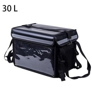 Lancheira térmica extra grande 30l, bolsa para gelo de carro, almoço térmico isolado, sacola para pizza, recipiente para entrega de alimentos frescos, saco de geladeira