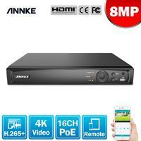 ANNKE 8MP 16CH POE grabadora de Video 4K H.265 + NVR para POE 2MP 4MP 5MP 8MP IP Cámara POE de vigilancia de la casa de seguridad de detección de movimiento