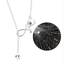 100 język kocham cię stetoskop pielęgniarka naszyjniki wisiorki serca lekarze prezenty biżuteria