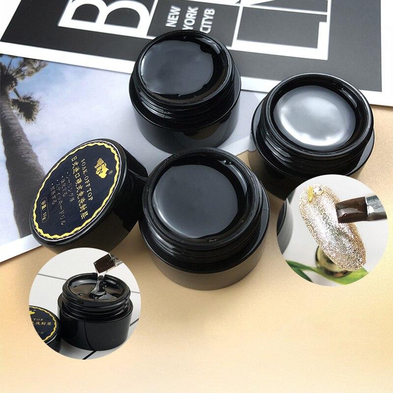 1 Pcs Top Coat UV Gel Nail Art Polish Seal Glaze Fast Dry Soak Off Hard Gel Nail Polish EF