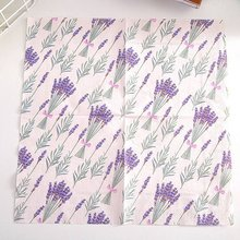 20 hojas/paquete Vintage lavanda servilleta papel púrpura flor impreso pañuelo mantel para la decoración de la boda cumpleaños fiesta