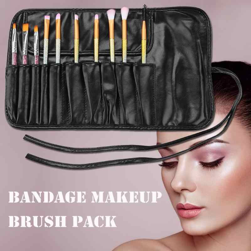 Tas Kosmetik Makeup Brushes Case Portable Tas Make Up Travel Organizer Rolling Kantong Pemegang Profesional Alat Kecantikan