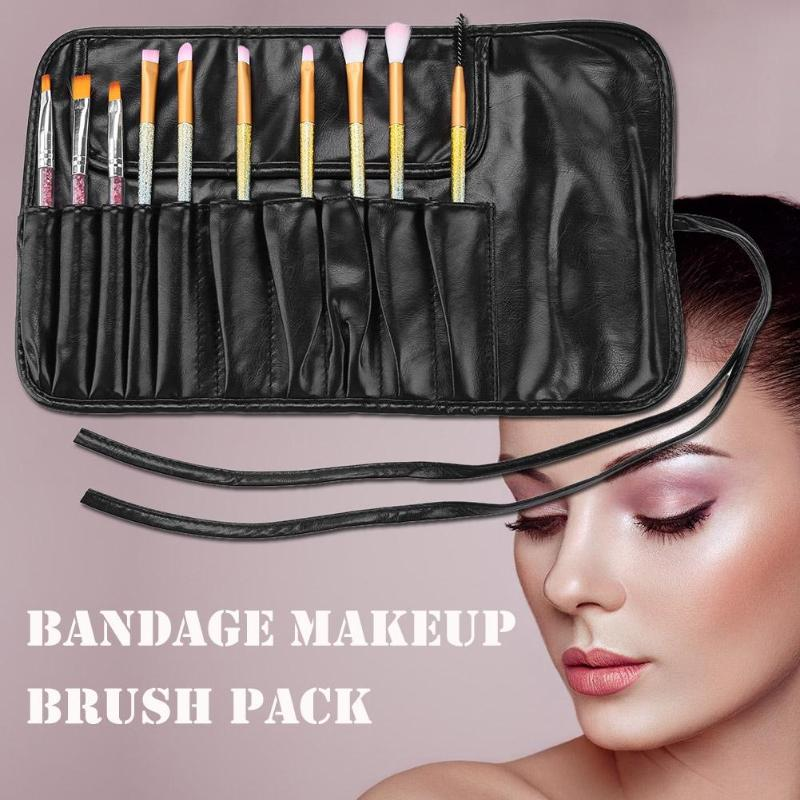 Cosmetic Bag Makeup Brushes Case Portable Bag For Make Up Brush Travel Organizer Rolling Pouch Holder Professional Beauty Tool