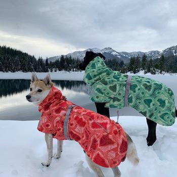Одежда для собак, зимнее теплое ветрозащитное пальто, утепленная одежда для домашних животных, костюм для собак, комбинезон, куртка, лыжный костюм, товары для домашних животных, собак