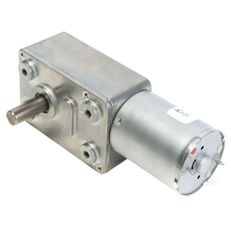 Reversible High Torque Turbo Worm Geared Motor DC 12V Reduction Motor, 2RPM image