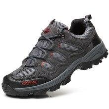 2019 nouveau automne hiver anti dérapant baskets pour hommes chaussures en plein air marche randonnée chaussures montagne chasse bottes daim chaussures pour homme