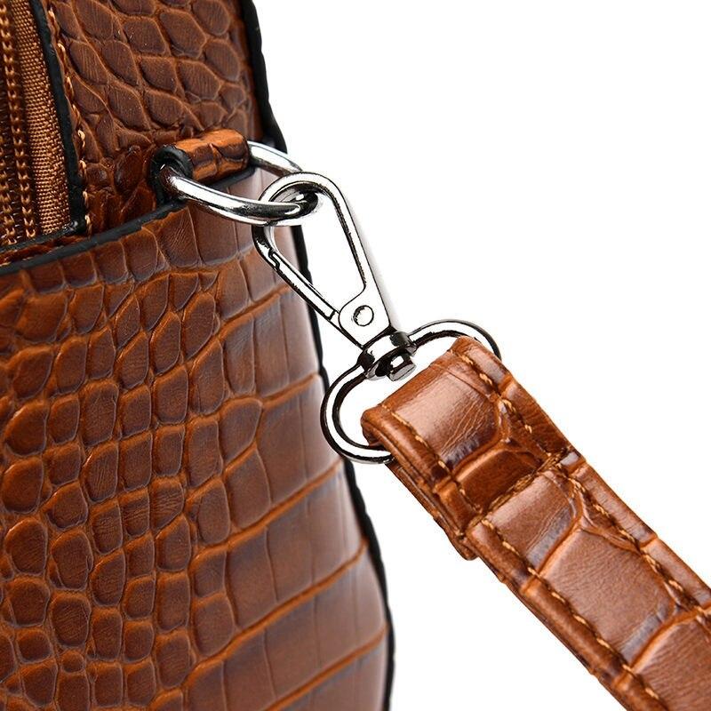 tote sacos de ombro senhoras crocodilo vintage