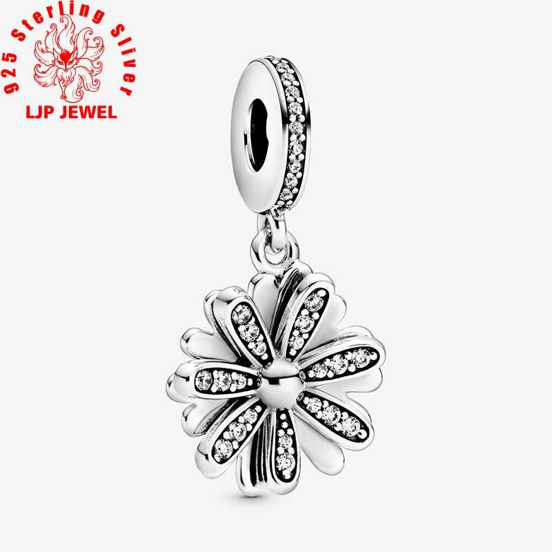 Womens Bead Charms,Spring 925 Sterling Silver Beads Daisy Flower Bouquet Dangle Charms fit Original Bracelets Women DIY Jewelry
