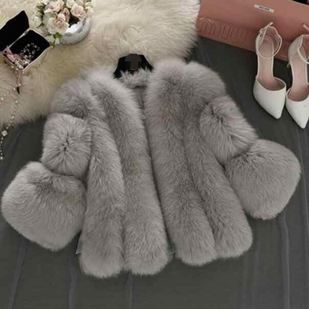 2019 зимнее элегантное женское пальто из искусственного лисьего меха короткая розовая шуба женская куртка из искусственного меха жилет меховой manteau femme S-5XL DF596