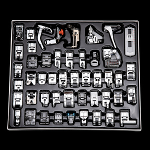 11/32/48/52/62pcs Sewing Machine Supplies Presser Foot Feet for Sewing Machines Feet Kit Set With Box For Brother Singer Janome(China)