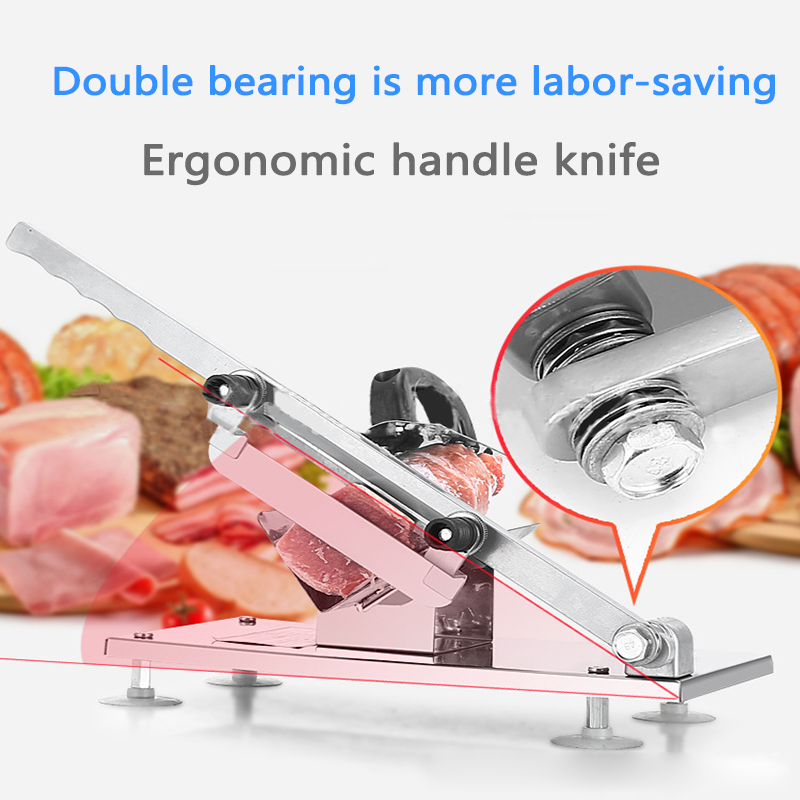 Commercial Meat Cutter Multi-function Beef /mutton Roll Slicer Stainless Steel Manual Vegetable/Chinese Medicine Cutting Machine