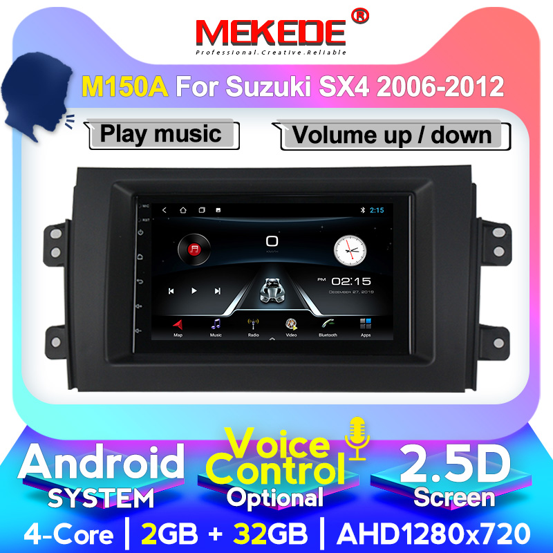 MEKEDE 7inch Android 10.0 4+64 For Suzuki SX4 1 2006-2014 Car Radio Multimedia Video Player Navigation GPS HD screen image