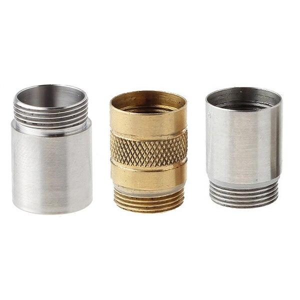 10180 Titanium/SS/Brass Extension Tube Through-hole Accessories For DQG Hobi Flashlight/DQG Capsule Keychain Storage
