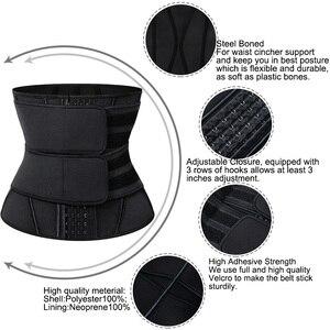 Image 4 - Женский корсет для утягивания талии, неопреновый корсет для утягивания талии, для пресса живота, фитнеса, похудения