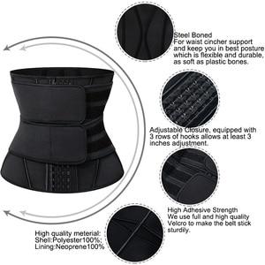 Image 4 - Cinta modeladora afinador de silhueta, corset feminino sauna modeladora