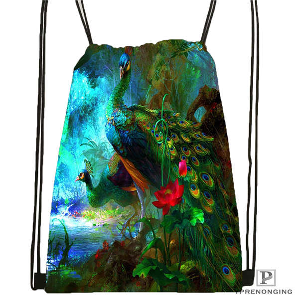 Custom Mariah-carey Drawstring Backpack Bag Cute Daypack Kids Satchel (Black Back) 31x40cm#180611-03-119