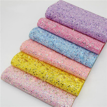 DIY Sewing Hair Bow Accessories Glitter Fabric Material Faux Leather Upholstery Fabric Faux Artificial Synthetic Leather Fabric 6pcs 20x22cm shinny glitter fabric diy sewing patchwork faux leather upholstery fabric hnadicarft diy bow accessories material