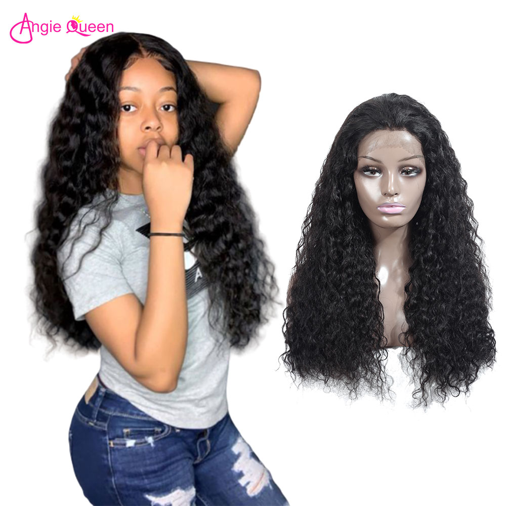 Angie Queen 360 Lace Frontal Wig Water Wave Wig 100% Remy Hair Brazilian Wig Human Hair Wigs For Black Women Free Shipping