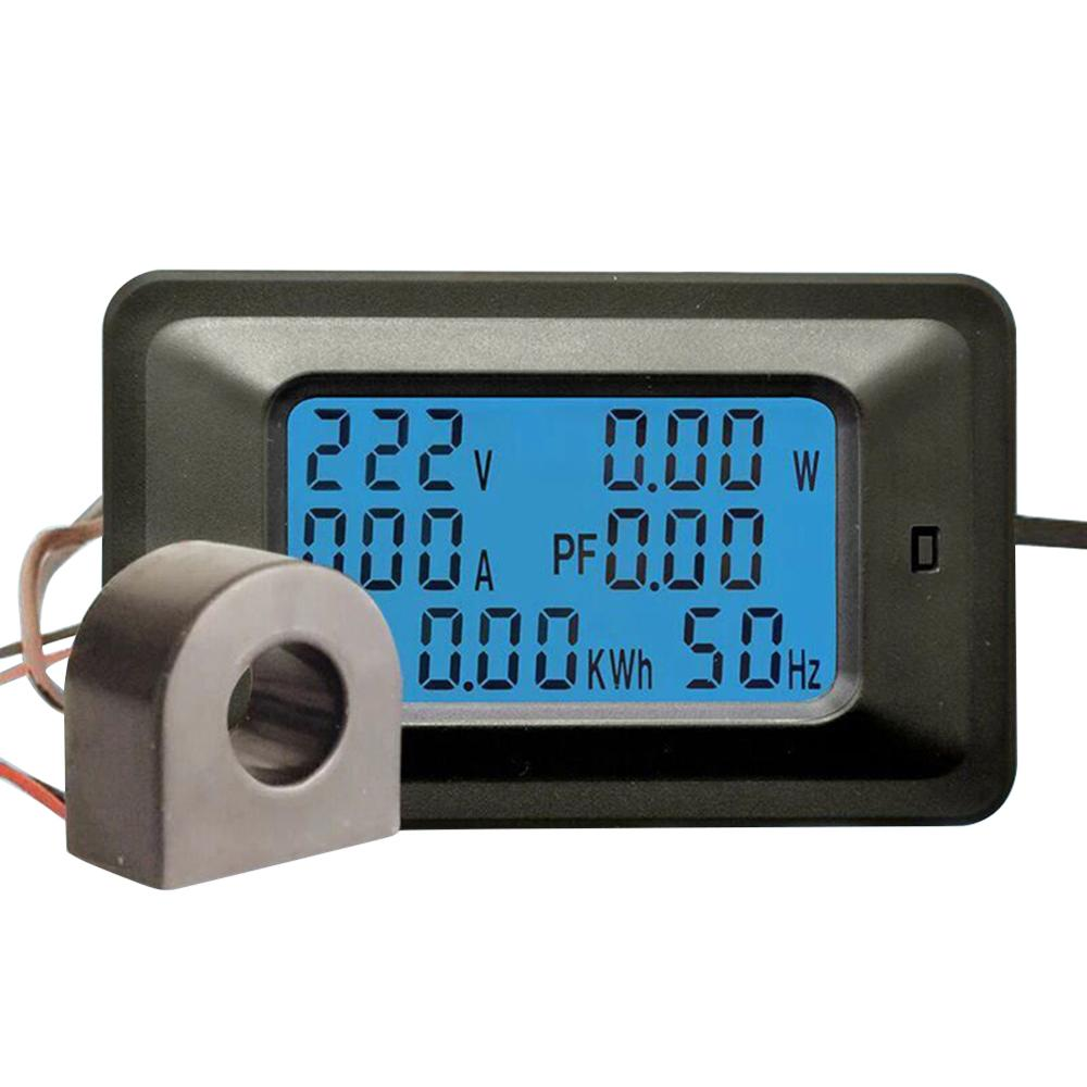 20A/100A AC Pannello LCD ดิจิตอล Misuratore Di Potenza วัตต์ KWh Monitor Di Tensione โวลต์มิเตอร์ Ammeter Tester เครื่องมือ
