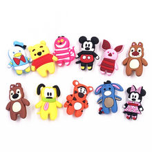 1PCS Cartoon Badge Silicone Cute Soft Animal Mickey Icon Brooch For Decoration On Backpack T-shirt Kids Birthday Party Gifts(China)