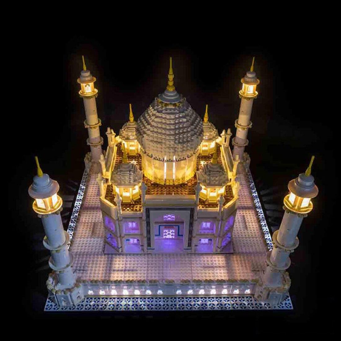 Usb powered led luz bloco de construção modificado kit para taj mahal 10256 led incluído apenas tijolos brinquedos presente