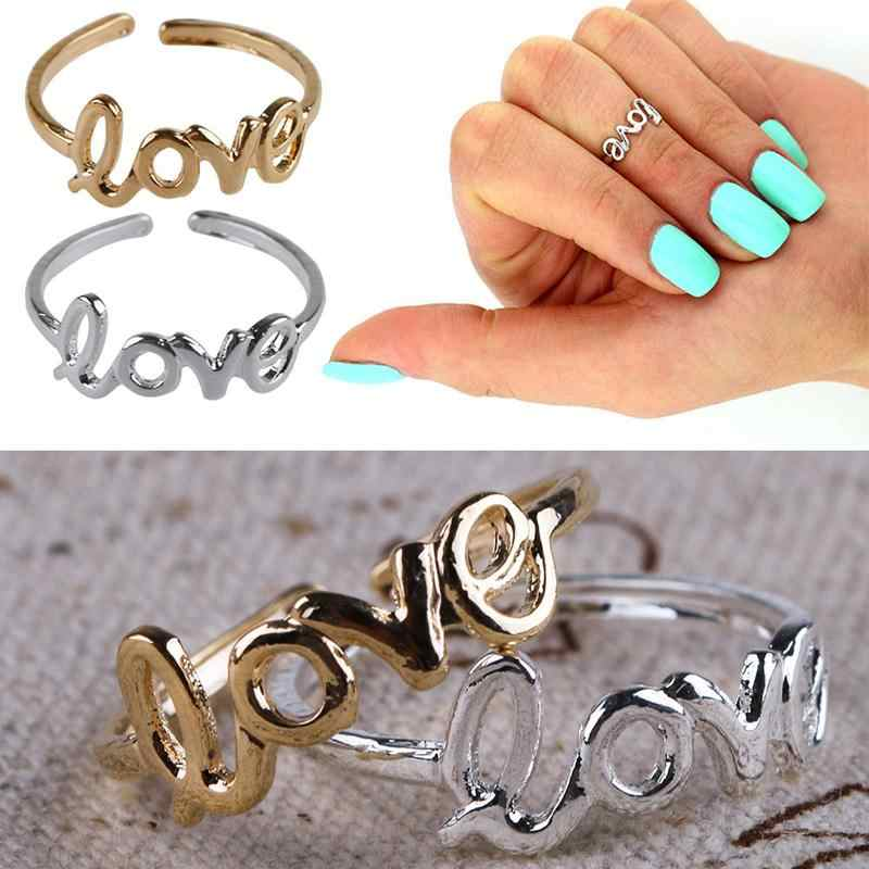 ผู้หญิงแฟชั่นToeแหวนความรักที่เรียบง่ายเปิดเท้าปรับเครื่องประดับ 1PC