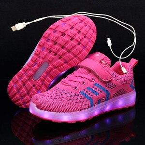 Светящиеся кроссовки с подсветкой USB для мальчиков и девочек, 2020