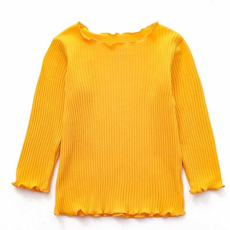 2019 ฤดูใบไม้ผลิฤดูใบไม้ร่วงเสื้อผ้าเด็กทารกแขนยาวเสื้อยืดเด็กเสื้อฝ้ายเสื้อยืดเสื้อลำลอง