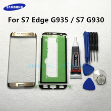 Front Outer Glass Lens Panel replacement For Samsung Galaxy S7 Edge G935 G935F S7 G930 G930F LCD touch screen + B 7000 glue Tool