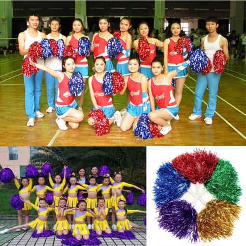 Handheld Pom Cheerleader Pemandu Sorak Menghibur Goyah Kostum Pompoms Pesta Dansa Klub Sepak Bola Dekorasi