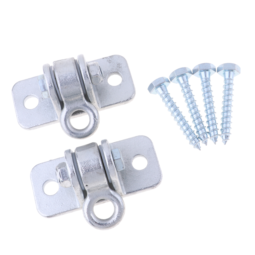 1 Pair Swing Wall Mount Bracket Hammock Great Load-bearing Hook Hold 15 KN  With 4 Screws Use In Inside / Outside Home