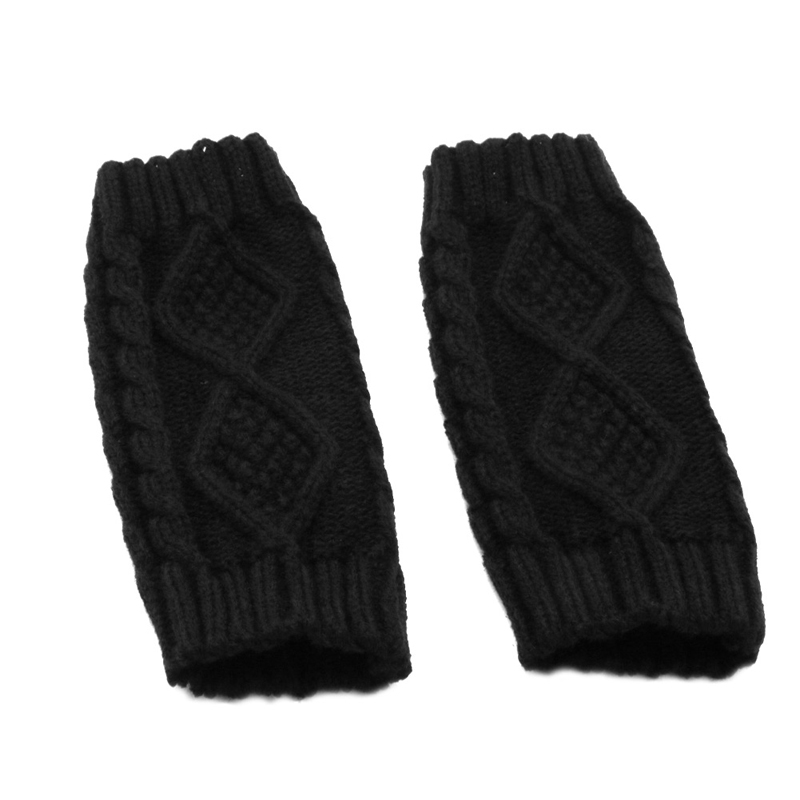 Winter Women Wrist Arm Hand Warmer Knitted Long Fingerless Gloves Mitten 2XPC
