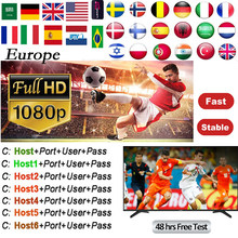 Cccam Europa Server For 2 Year Europe Spain Portugal France DVB-S S2 X6+ X800 V7,V7S HD,V8 Super,V8 NOVA Satellite receiver(China)
