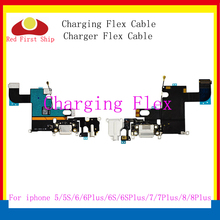 все цены на 10Pcs/lot Replacement Charging Flex Cable For iPhone 7 5 5C 5S 6 6S plus 8 Plus X USB Charger Port Dock Plug Connector Flex part онлайн