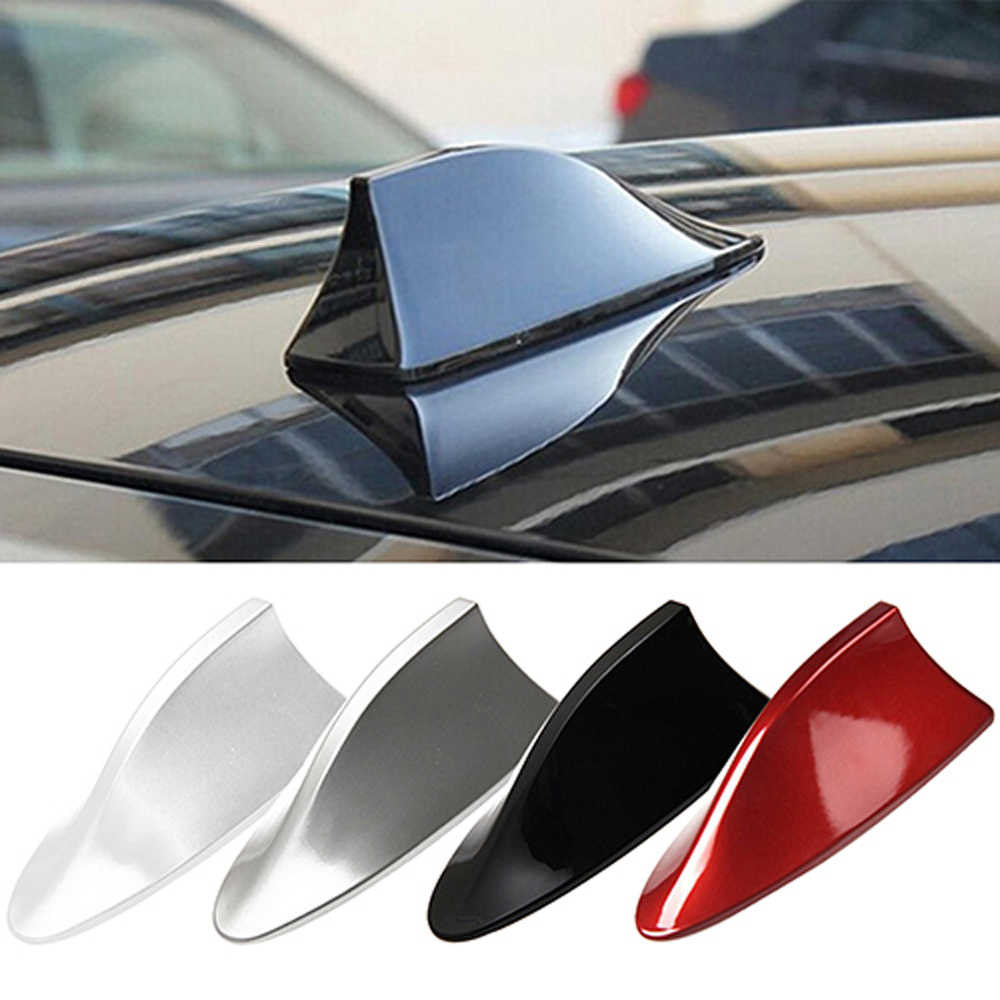 Car Radio Shark Fin Car Shark Antenna Radio FM Signal Design For All Cars Aerials Antenna Car Styling for Polo Ford Kuga KIA
