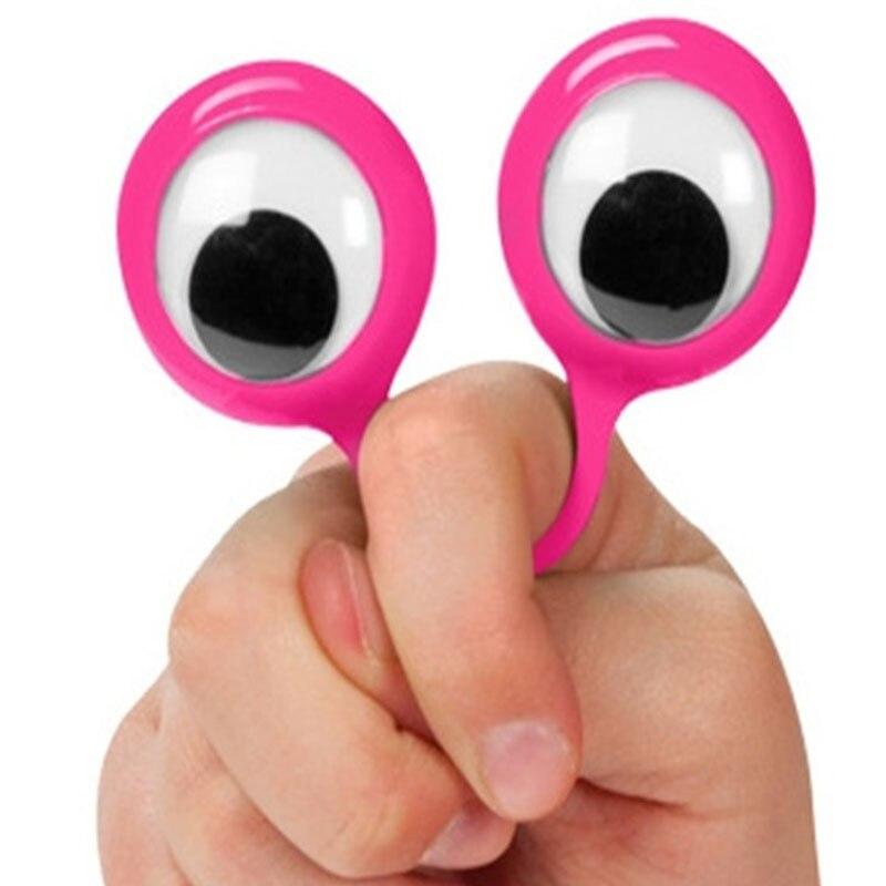10 Stück Eye Finger Puppets Party Gefälligkeiten für Kinder Goodie Bags Coole Sachen Tangle Fidget Toy Lustiges Geschenk Streich Gadgets