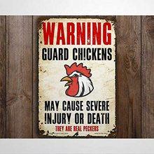 Предупреждение ительный охранник цыплята Забавный металлический знак металлические знаки Настенный декор 8x12 дюймов