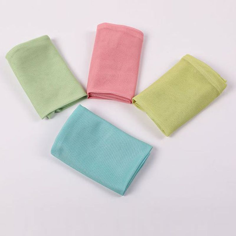 Women Summer Ice Silk Cooling Arm Sleeves Warmer Macaron Cream Color Outdoor Cycling Sun Protection Fingerless Thumb Hole Gloves