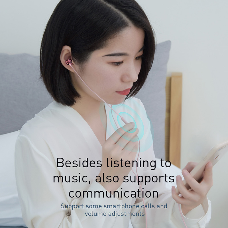 Купить с кэшбэком Baseus Wired Earphone Headphone In-Ear Earphones Headset With Mic Earbuds Earpiece For iPhone Samsung Auriculares Fone De Ouvido