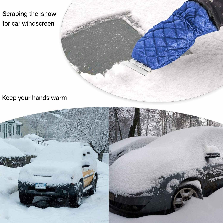 quitamanchas con guante anticongelante que rascar/á el hielo y el rizo pesados de los parabrisas con facilidad y limpiacristales ultraligeros para ventana de coche Rascador de hielo para parabrisas